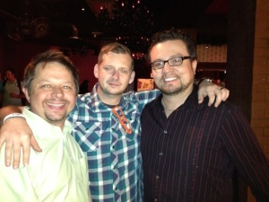 Andrew with good friends and colleagues Matt Miller (Lead Draft Writer for Bleacher Report) and Cecil Lammey (of 102.3 ESPN Denver)